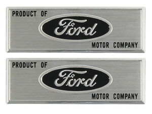 New 1960-66 Ford Step Plate Labels Door Sill Galaxie Falcon Fairlane LTD Black