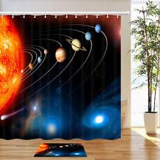 Solar system planet fantasy Shower Curtain Waterproof Fabric Bathroom Set 71In