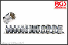 "BGS - 1/4"" - 4 - 14 mm Shallow, 12 Point Socket Set, 13 Pcs - Pro Range - 2269"