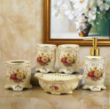 Royal 5pcs Bathroom accessories set SoapDish&Dispenser&Toothbrush holder Ceramic