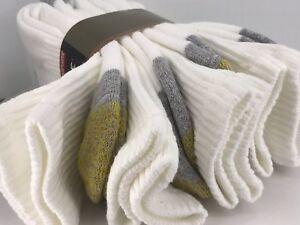 Men's GoldToe Socks, White 80% Cotton Cushioned Crew Socks, 4 Pack, $36 MSRP🎾🎒
