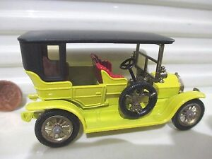 V.Rare Lesney Matchbox Models of YESTERYEAR Y5 YELLOW 1907 PEUGEOT CLEAR Windows