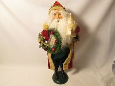Byers Choice 2005  Crimson Santa with Wreath and Gifts New