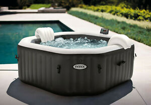 Intex Inflatable Spa PureSpa 4 Person Heated Jet Bubble Massage Spa 28458