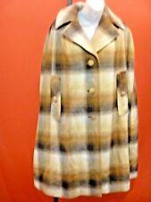 ELEGANT SILKS LTD Vtg Brown Herringbone check Sherlock Holmes Cape Coat One Size
