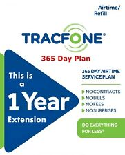 TracFone  1 Year 365 Days Service Extension Smartphone Digital Refill No Minutes