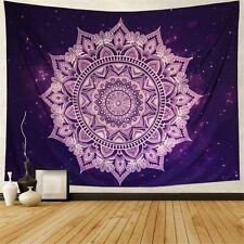 Purple Flower Mandala Tapestry Hippie Bohemia Wall Hanging Room Tapestry Decor