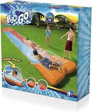 Bestway™ Slip N and Slide Dual Double Racer 2 Lane Kids 18 Foot Water Slide NEW