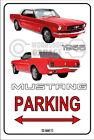 Parking Sign Metal MUSTANG CONVERTIBLE 1966 - 02 RED