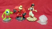 4 DISNEY INFINITY Aladdin Monsters Incredibles 1.0 2.0 3.0 Figure Lot Wii PS3