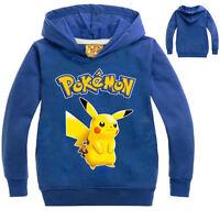 Pokemon Enfants Vêtements Garçon Fille Coton Sweat À Capuche Sweatshirts