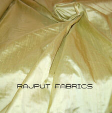 100% Natural Silk Dupioni Fabric Yellow Green Pear Chartreuse * BY THE YARD *