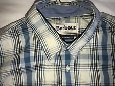 BARBOUR REGULAR FIT BLUE PLAID 100% COTTON SPORT SHIRT MINT  COND SIZE SMALL