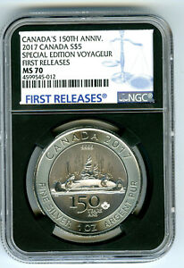 2017 $5 CANADA 1 OZ SILVER 150TH SPECIAL EDITION VOYAGEUR NGC MS70 FIRST RELEASE