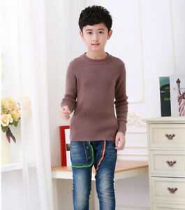 6595 New Kids Children 60% Cashmere Sweaters Boys thicken Knit Pullover S4-12Y