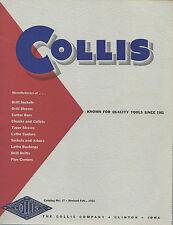 Drill Sockets & Sleeves Chucks Collets 1956 Tool Catalog Collis Co Clinton Iowa