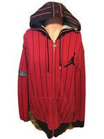 RARE Vintage Men's Air Jordan Pinstriped Wings Hooded Sweatshirt Size 2XL🔥