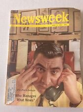 Newsweek Magazine JFK's Pierre Salinger April 8, 1963 101216R