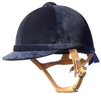 JODZ  Black Or  Navy Velvet Horse  Helmet  EN1384     S A L E