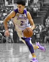 Los Angeles Lakers LONZO BALL Glossy 8x10 Photo Spotlight Basketball Print