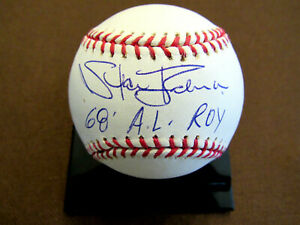 STAN BAHNSEN 1968 A.L. ROY NY YANKEES PITCHER SIGNED AUTO OML BASEBALL TRISTAR