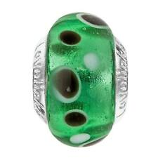 Lovelinks Dots Green Bead New Genuine Murano Glass Sterling Silver 11821678-99