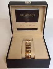 ST. JOHN TIMEPIECE MODEL 96242 SHARON, SMALL GOLD PLATED WOMAN'S WATCH, NEW