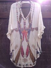 Wild Heart Sequin Kaftan White Multi Size S Free People New