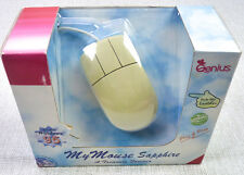 Vintage 90s Genius Brand Sapphire Computer Mouse Wired Track Ball NEW in Package