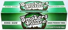 Smokers Palace Green (Menthol)  King Cigarette Filter Tubes - Lot of 5 Boxes