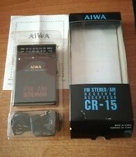 AIWA FM STEREO/AM RECEIVER CR-15 pocket radio transistor Vintage