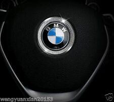 BMW Steering Wheel Emblem Trim Bling Chrome New W Swarovski Crystals