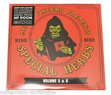 "NEW - MF DOOM - SPECIAL HERBS VOLUME 5 & 6 / 2X 12"" VINYL LP w/ BONUS 7"" RECORD"