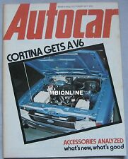 Autocar magazine 1 October 1977 featuring Ford Cortina, Renault 17, Sunbeam