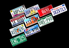 SET OF 10 COLORFUL USA LICENSE PLATES