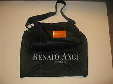 RENATO ANGI FINE BLACK LEATHER ITALIAN HANDBAG**DUST COVER+ SERIAL # TAG*