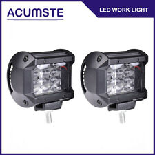 "2PCS 4"" inch 72W Quad Row LED Work Light Flood Combo For Off Road Truck Boat SUV"