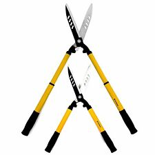 TELESCOPING 22'' HEDGE CLIPPERS - Sharp, Carbon Steel Hedge Trimming Shears