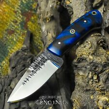 ALONZO KNIVES USA CUSTOM HANDMADE TACTICAL NECK 1095  KNIFE CORELON HANDLE 17260