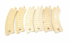 """Thomas The Tank & Friends Wooden Clickity-Clack 6 1/2"""" Curved Track LC99235 6pcs"""