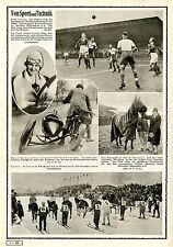 Sport Kölner Fußballclub Frau Junek Prag Rennfahrerin Motorrad mit bewegl...1928