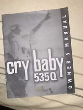 Dunlop 535Q Multi-Wah Cry Baby Guitar Pedal Owners Manual! No Pedal Only Manual!