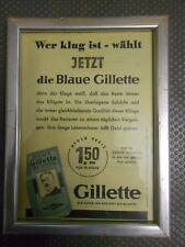 Gillette alte Reklame im Bilderrahmen (70)