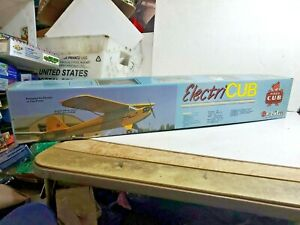 """Great Planes 53"""" ElectriCub Piper J-3 Cub R/C Wood Model Airplane Kit with Motor"""