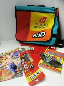 Virgin Atlantic K-iD Bag Backpack Satchel messenger , original tag and contents