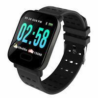 Fitness Sports Blood Pressure Heart Rate Monitor Bluetooth Smart Watch Wristband