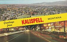 Lam(C) Kalispell, Mt - Greetings From Banner - Two Scenic Views