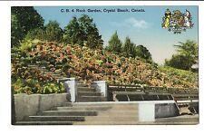 Vintage Postcard Crystal Beach Ontario Canada Rock Garden