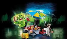 Playmobil Ghostbuster Hot Dog Stand With Slimer Kids Children Play Figures Toy