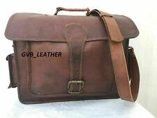 Messenger Stunning Case satchel bag genuine briefcase Vintage goat leather